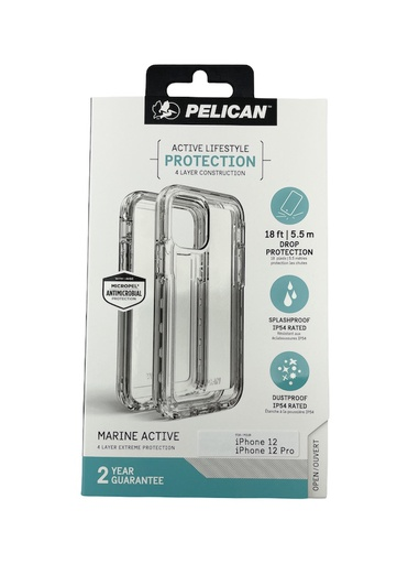 [PP043818] Pelican Marine Active 5.5m Drop Protection | iPhone 12/12 Pro (6.1) - Clear