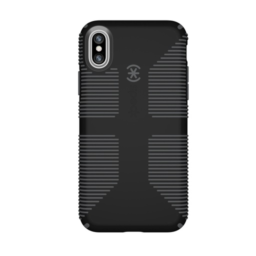 [103172-B565] Speck Candy Shell Grip | iPhone X/Xs - Black/Grey